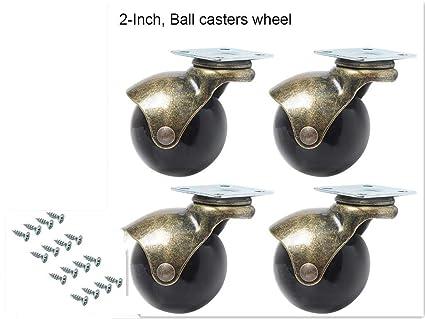 Manfâ - Ruedas de goma para rueda de ruedas, silla de oficina (juego de