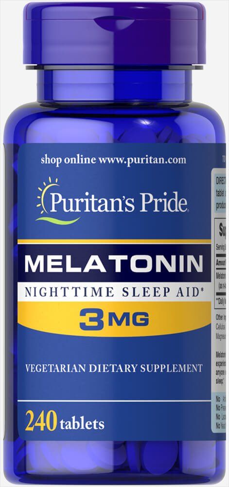 Puritans Pride Melatonin 3 mg-240 Tablets