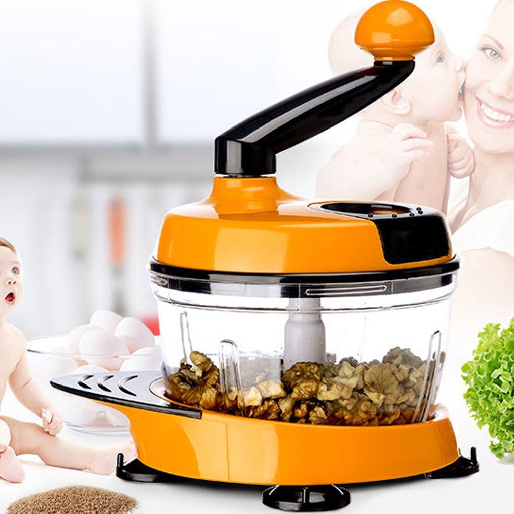 Uzinb 1.5L de m/últiples Funciones Manual de Ensalada de Frutas Blender Cortador procesador de Alimentos para Picar Carne Vegetal Chopper Shredder