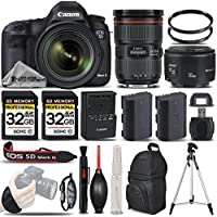 Canon EOS 5D Mark III DSLR 22.3MP + Canon 24-70mm f/2.8L II USM Lens + Canon 50mm 1.8 II Lens + Backup Battery + 2 Of 32GB Memory Card. All Original Accessories Included - International Version