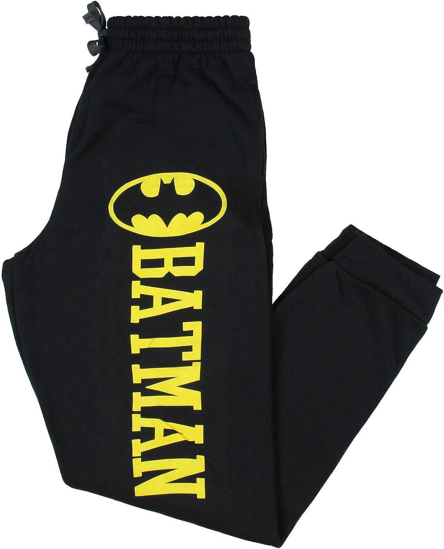 Mens Womens NEW Batman Logo Heather Blue Pajama Lounge Pants Size XL