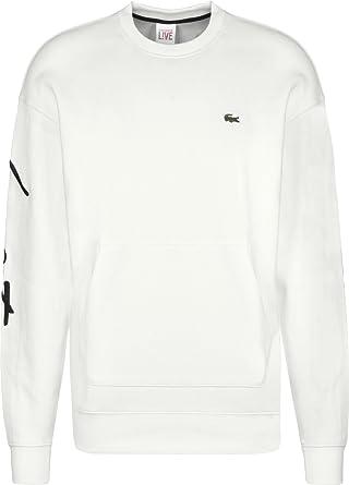 86d855ca2f6 Lacoste L!VE SH9073 Sweat-Shirt Homme Noir (Noir 8lp) XXX-Large ...