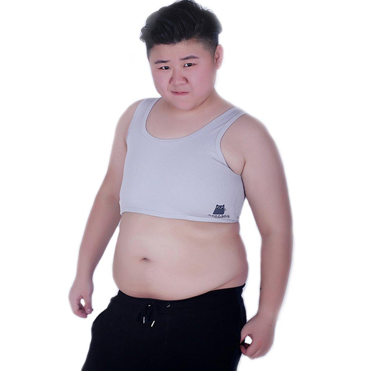 BaronHong Tomboy Trans Lesbian Mesh Chest Binder Plus Size Long Tank Top