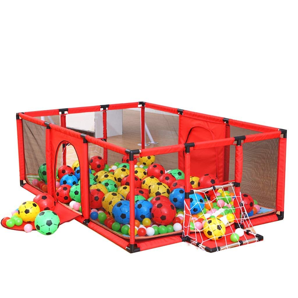 【爆売りセール開催中!】 ベビーサークル キッズ幼児女の子用大型ベビーサークル、フロアマットとボールを使った屋内旅行遊び場、6パネル、120×180×62 cm B07QGNWLFL (色 赤) : 赤) (色 赤 B07QGNWLFL, イズミク:235e4a95 --- a0267596.xsph.ru
