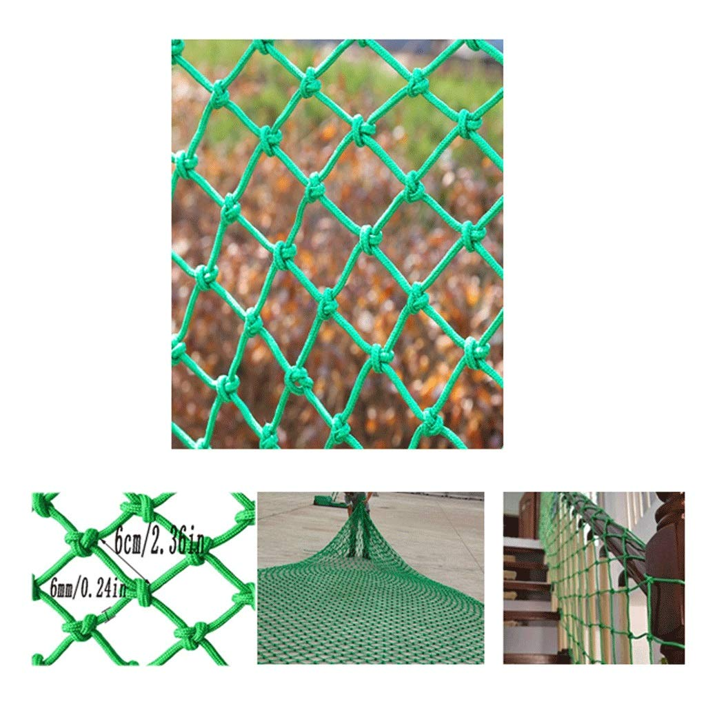 Child Safety Net Stair Railing Anti-Fall Net Balcony Shatter-Resistant Net Wall Decoration Net Ceiling Net Multi-Size Optional (mesh 6cm / Rope Thickness 6mm) (Size : 1x6m)