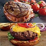 Kansas City Steaks 4 (6 oz) Filet Mignon with Hickory Bacon and 8 (4 oz) Classic Steakburgers Special Offer