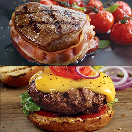 Kansas City Steaks 4 (6 oz) Filet Mignon with Hickory Bacon and 8 (4 oz) Classic Steakburgers Special (Filet Mignon Four Steaks)