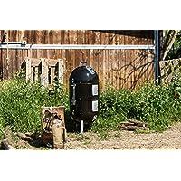 AS300K Apollo Napoleon Räuchertonne schwarz XXL Smoking Barrel Balkon Garten ✔ Deckel ✔ rund dreieckig ✔ Grillen mit Holzkohle ✔ mit Dreibeinen