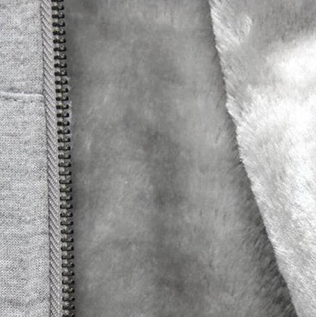 Beloved Men Thick Warm Padded Lined Fleece Hoodie Sweatshirt Coat Jacket