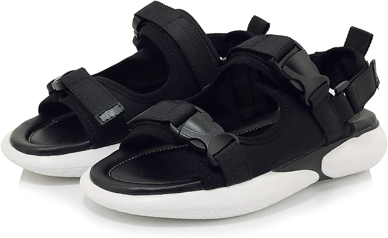 Summer Women Sandals Shoes Woman Simple Summer Shoes Comfortable Beach Flat Shoes,Black,8