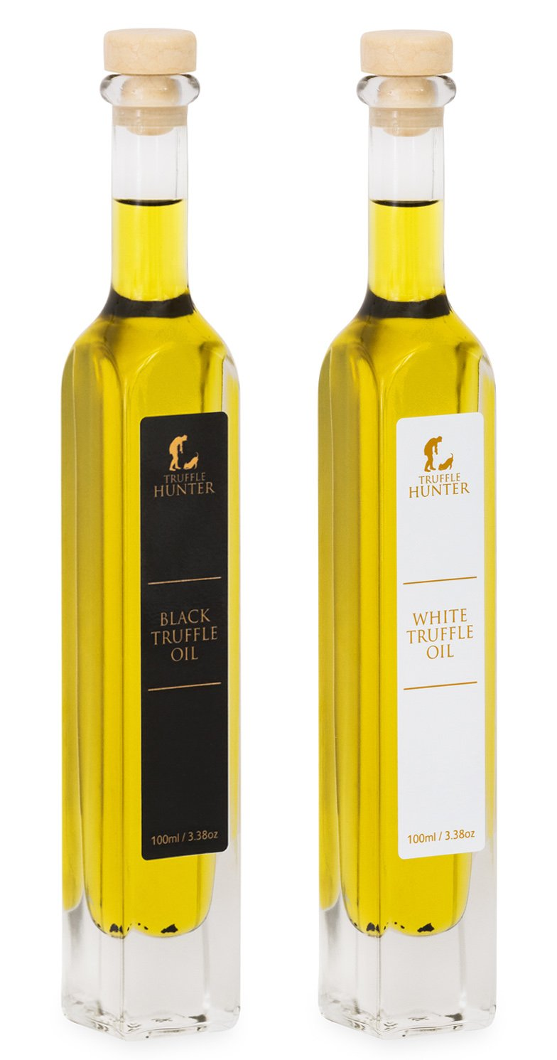 TruffleHunter Black & White Truffle Oil Set (3.38 Oz) [Double Concentrated]