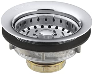 KOHLER K-8814-CP Stainless Steel Sink Strainer, Polished Chrome