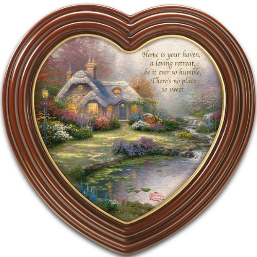 Thomas Kinkade - heart shaped wall art - heart shaped home decor