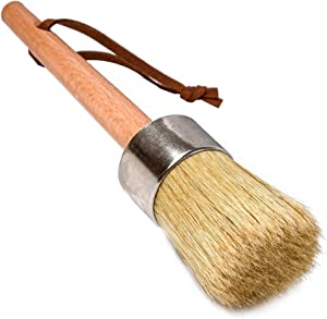 bzczh Chalk and Wax Paint Brush for Furniture Painting, Waxing and Stenciling,for Dark & Clear Soft Wax, Chalked Paint, Milk Paint,Folk Art, Home Decor