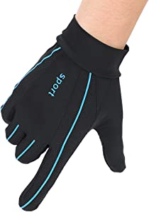 ITODA Summer Driving Gloves Men Anti-UV Protection Sunscreen Touchscreen Cooling Mesh Breathable Gloves Cycling Riding Full Palm Sport Non-Slip Grip Motorcycle Golf Mittens
