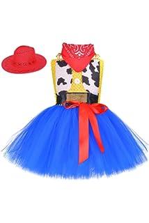 YiZYiF Disfraz Vaquero Cowgirl Jessiey Niñas Vestido Tutú Princesa ...