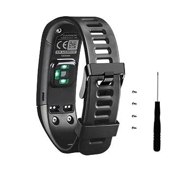correas para garmin vivosmart hr banda de pulsera de repuesto de silicona suave + herramienta con destornillador para Garmin Vívosmart HR pulsera de ...