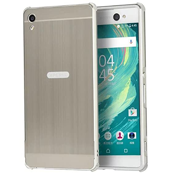 on sale 77337 5d572 Sony Xperia XA Ultra Case, Ranyi [Brushed Metal Series] Luxury Aluminum  Metal Bumper Frame Detachable + Smooth Brushed Hard Back Cover [Slim &  Thin] ...