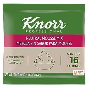 Knorr Professional Neutral Mousse Dessert Mix No Artificial Colors, 5.75 oz, Pack of 10