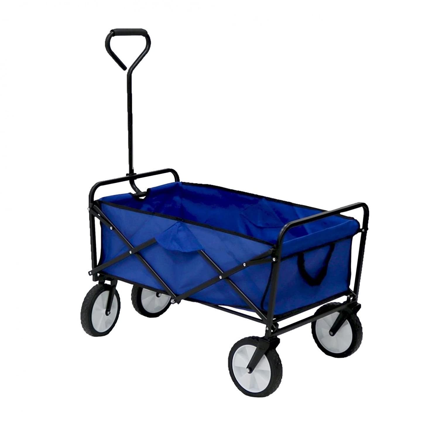 Oypla Blue Heavy Duty Foldable Garden Trolley Cart Wagon Truck Wheelbarrow 4031OYP