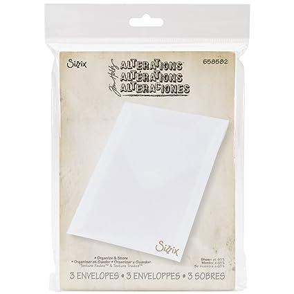 amazon com sizzix plastic storage envelopes by tim holtz for dies