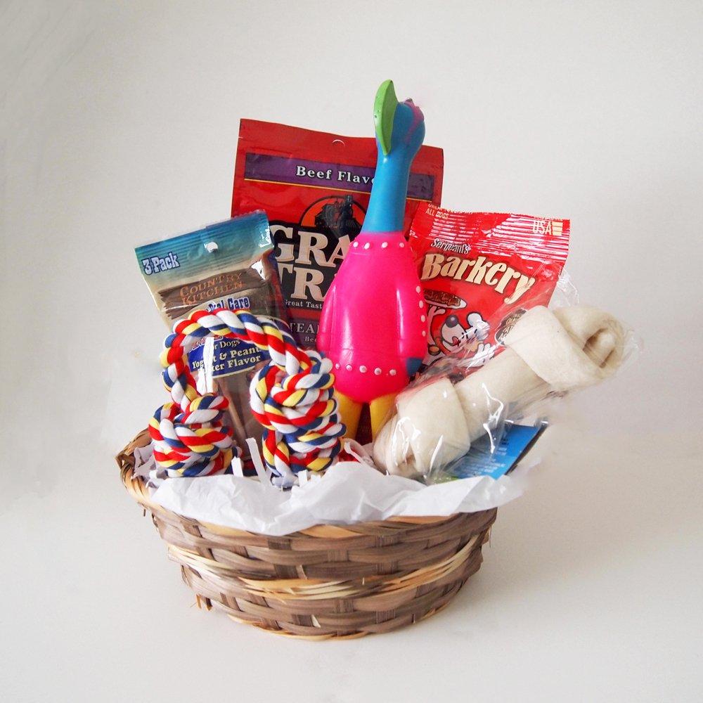 free shipping Dog Gift Basket Treats Crewing Toy Holiday Set ...