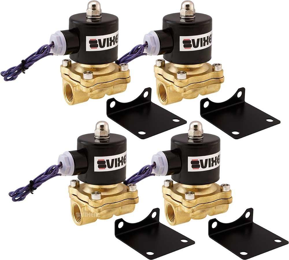 Vixen Air 1/2'' NPT Air Ride Suspension High Flow Electric Air Valves/Solenoids 210 PSI Two Corners VXF2012-4