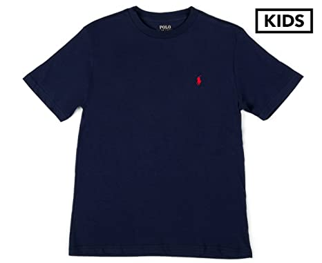 41d671b58c85dd Ralph Lauren Little Boys Polo Crewneck Tee Solid - Navy -: Amazon.co.uk:  Clothing