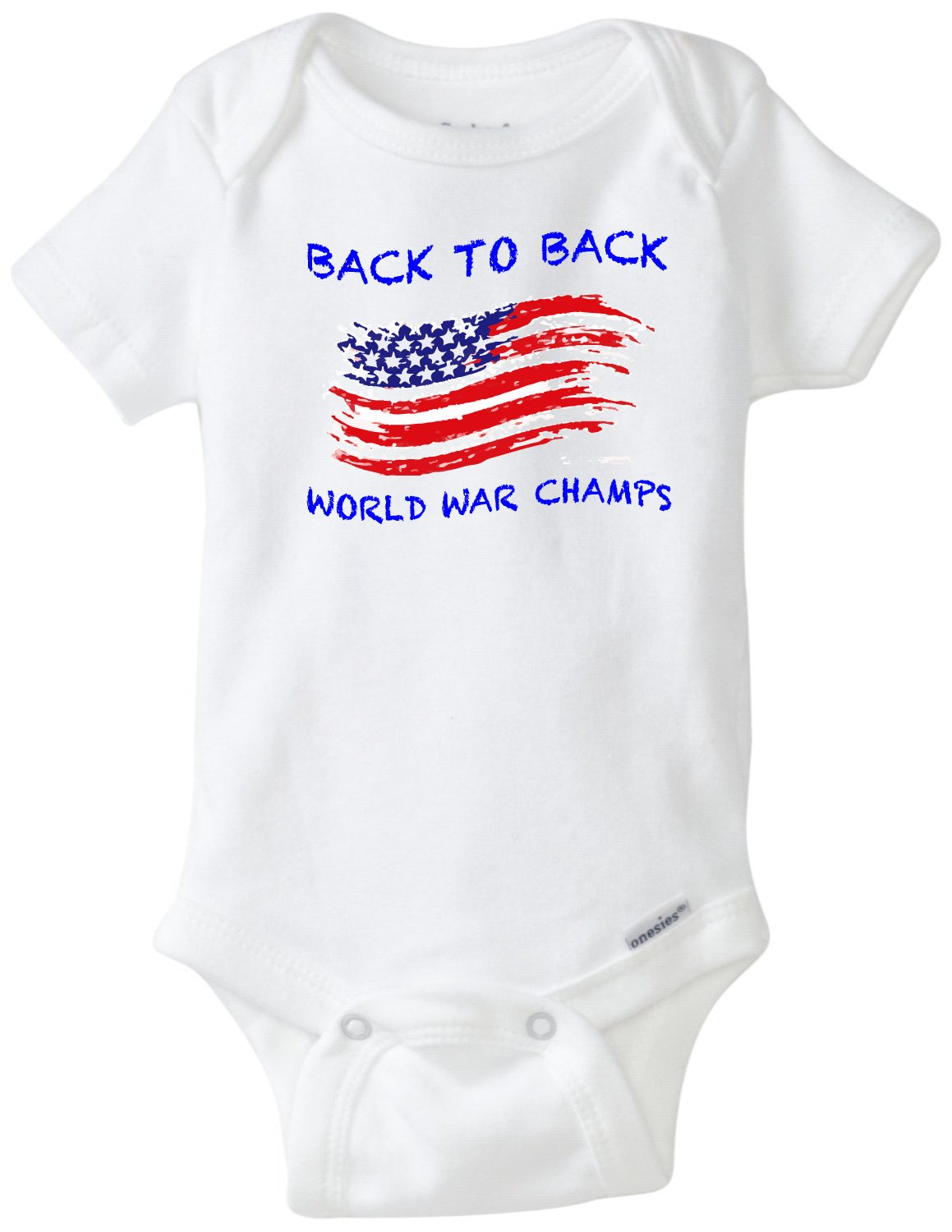 Amazon.com: Back To Back Guerra Mundial Champs Funny Baby ...