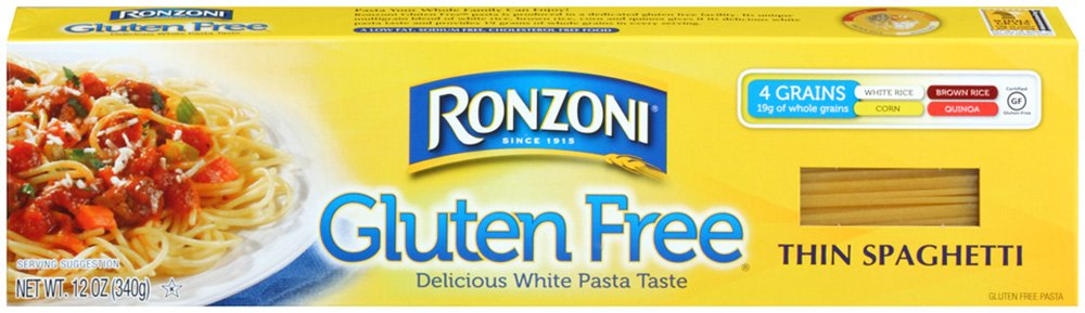 Ronzoni Gluten Free Thin Spaghetti, 12-Ounce (Pack of 12)