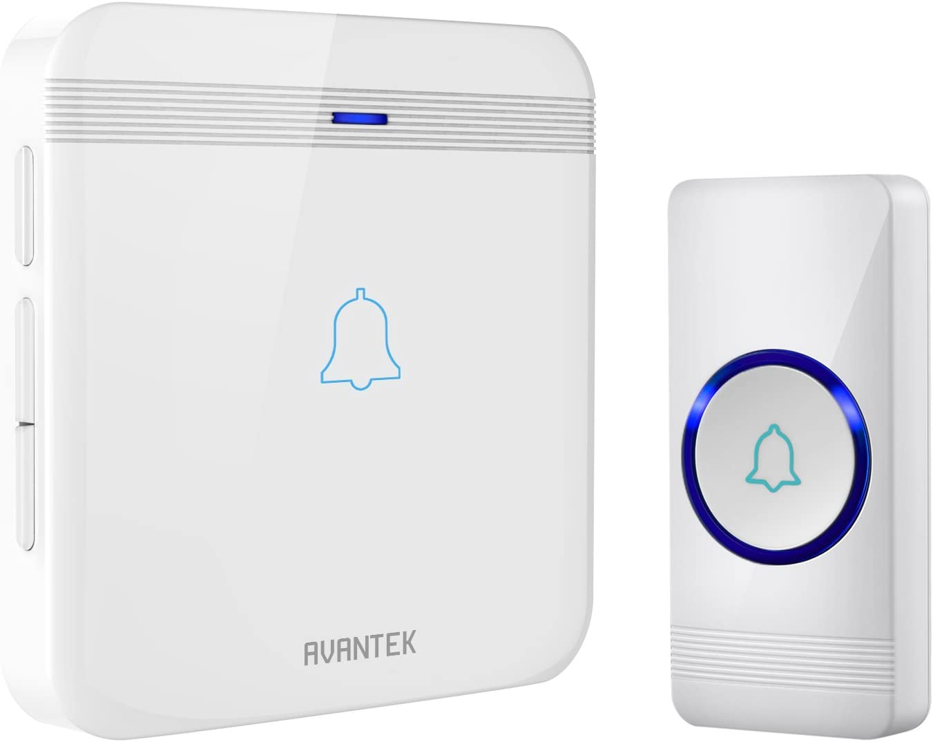 Wireless Doorbell AVANTEK Waterproof Chime Kit Operating at Over 1,300 Feet with 52 Melodies CD Quality Sound /& LED Flash