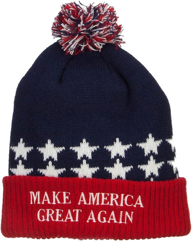Quantity 3 President Donald Trump Quality Unisex Santa Elf Hat Cap Beanie POTUS 45 Keep America Great MAGA Make Christmas Great Again