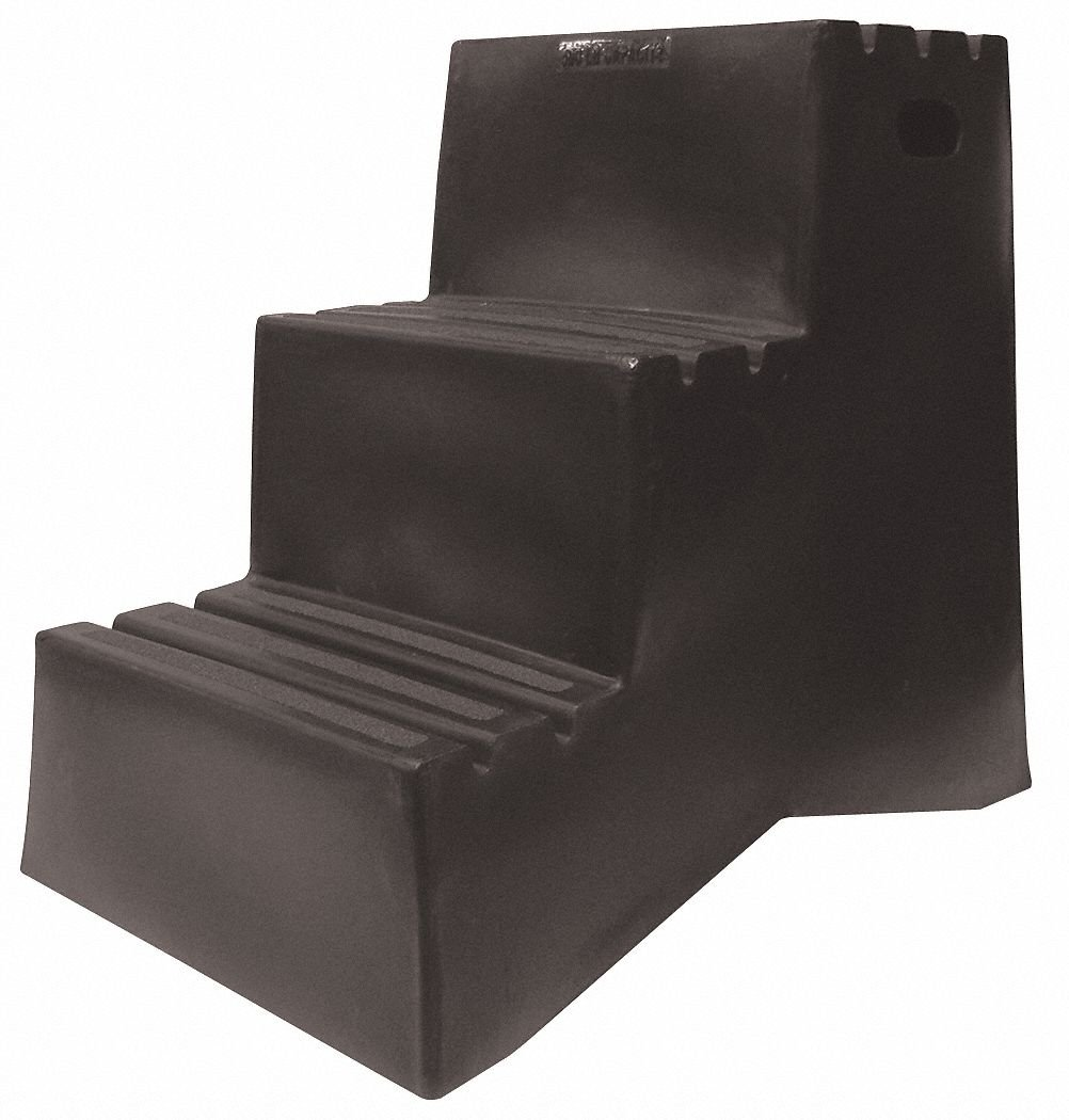 Step Stand, 3 Steps, Polyethylene, Black by DPI