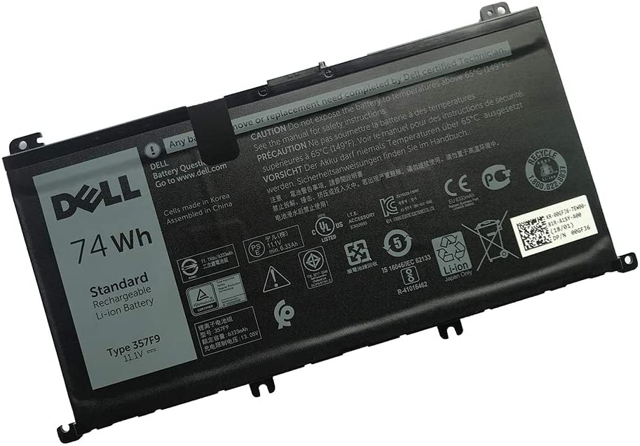 SANISI DELL 357F9 Notebook Battery 74Wh for Dell Inspiron 15 5000 Series 5576 5577 Inspiron 15 7000 Series 7557 7559 7566 7567 Best OEM Quality