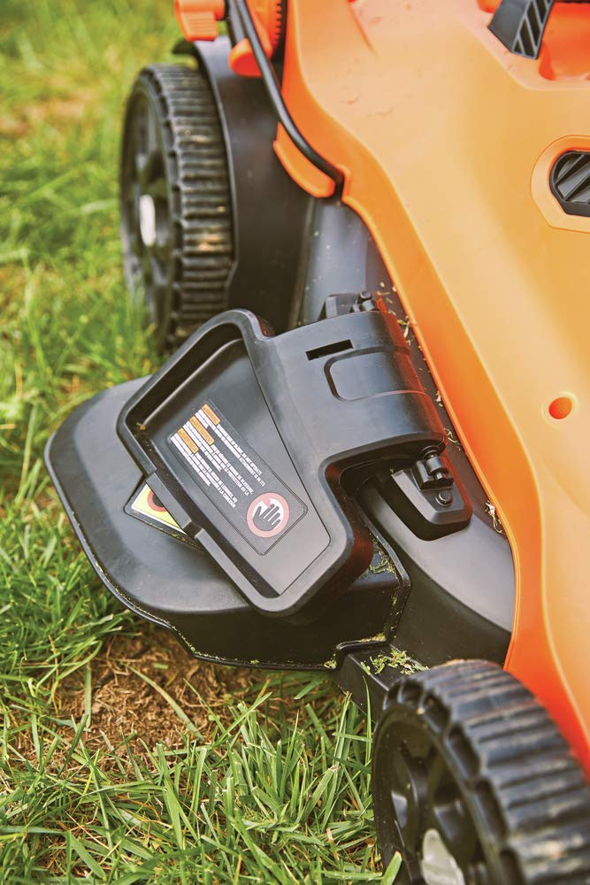 BLACK+DECKER Lawn Mower, Corded, 13 Amp, 20-Inch (BEMW213) 10 Push mower comes with 13 Amp motor to power through tall grass Electric mower can adjust height with 6 settings for precise cutting specifications Push lawn mower comes with easy Fold handle for convenient storage when not in use