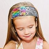 Hemore Sequin Headband Glitter Headbands Elastic