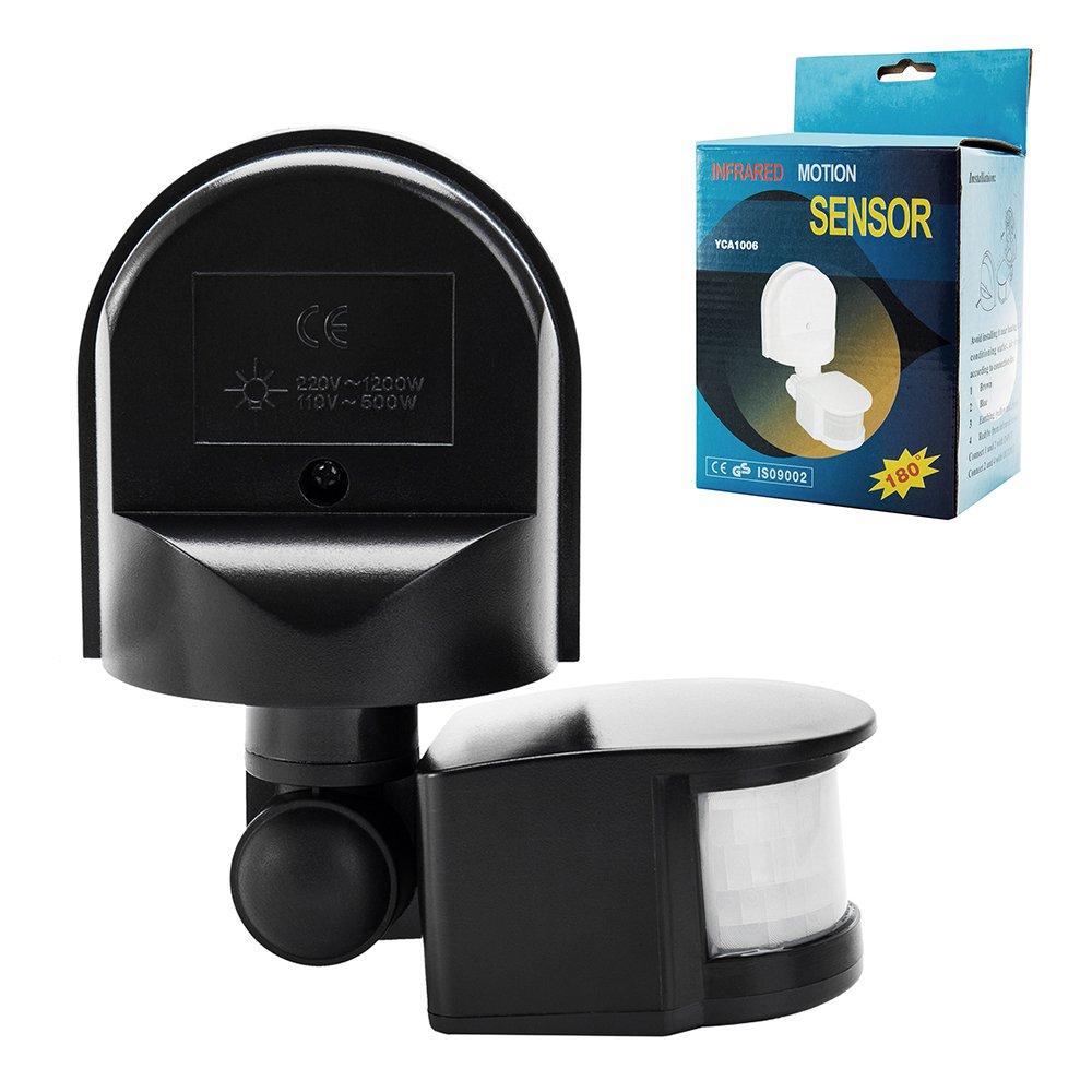 Sensor de movimiento por infrarrojos Detector Interruptor exterior: Amazon.es: Iluminación