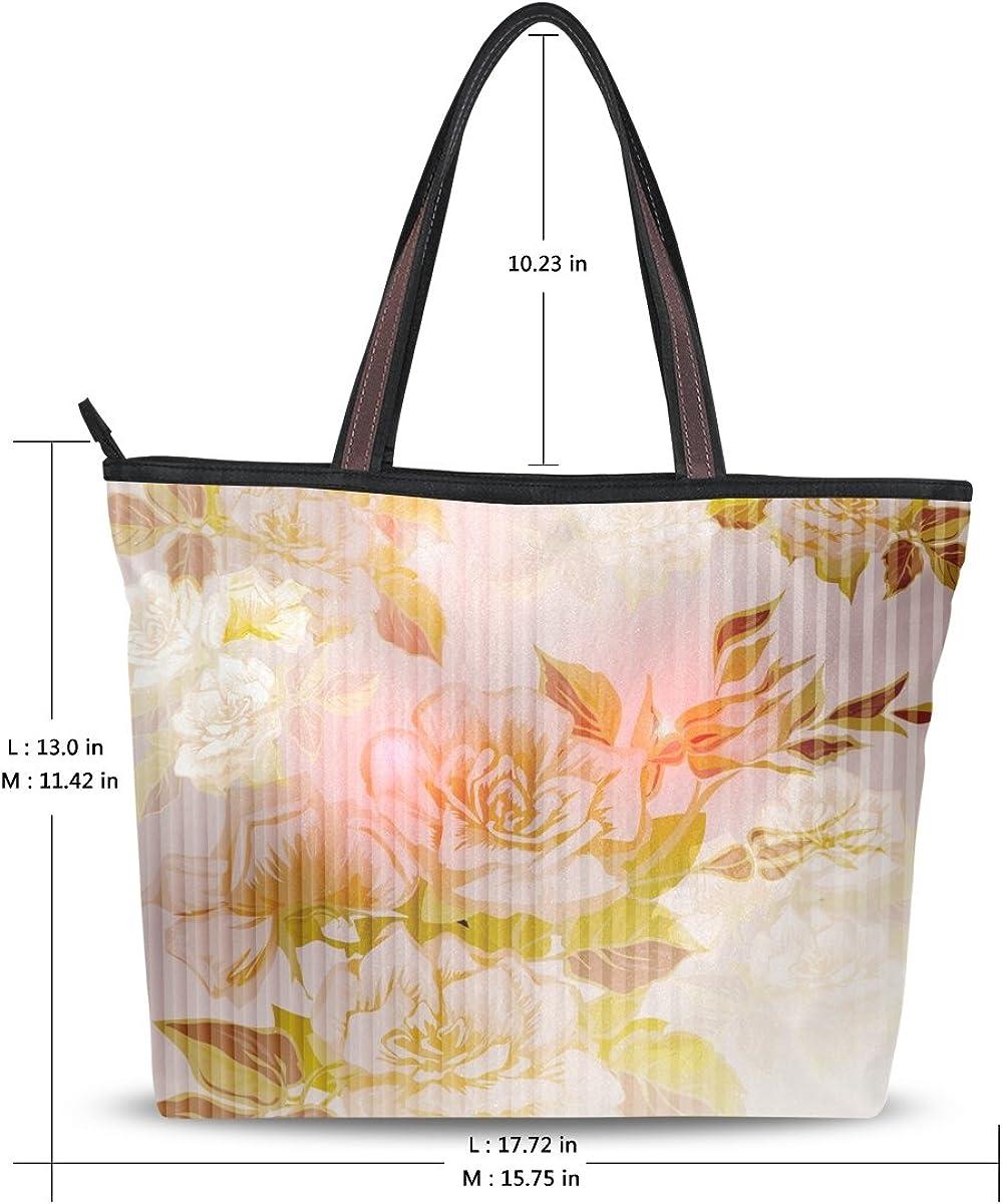 DEYYA Women Large Tote Bag Peonies Shoulder Handbags Satchel Messenger Bags for Ladies