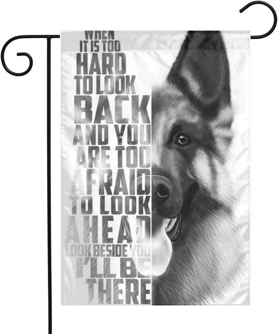 UkJZO German Shepherds Garden Flag,Double Sided Polyester Welcome Large Yard Garden Flag Banners for Patio Lawn Home Outdoor Decor