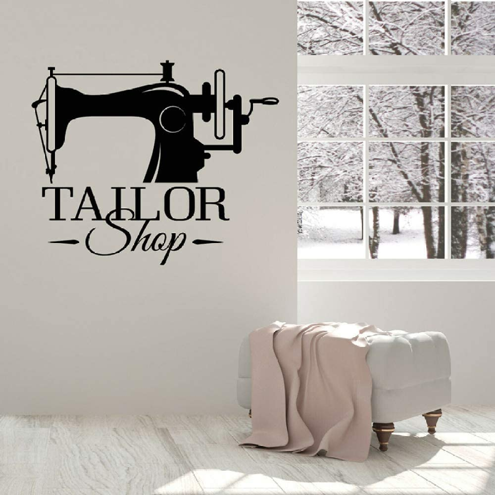 JXweilele Vinilo Tatuajes de Pared Tailor Shop Sign Logo Etiqueta ...