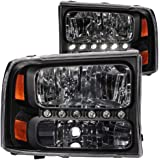 Anzo USA 111106 Ford Black Amber Headlight Assembly - (Sold in Pairs)