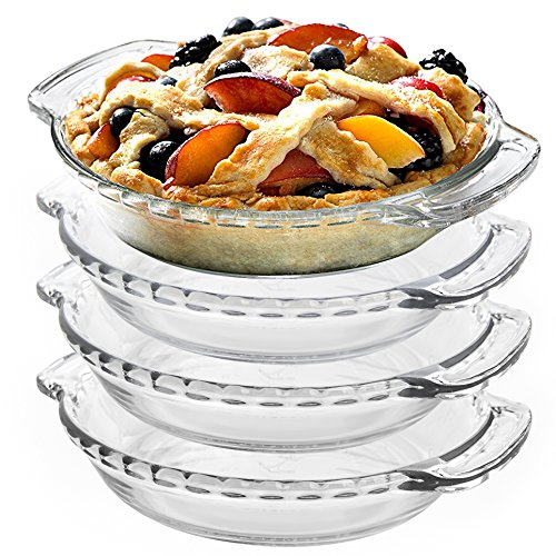 Anchor Hocking Oven Basics Glass 6 Inch Mini Pie Plate Set of 4  sc 1 st  Plate Dish. : 6 inch pie plates - pezcame.com