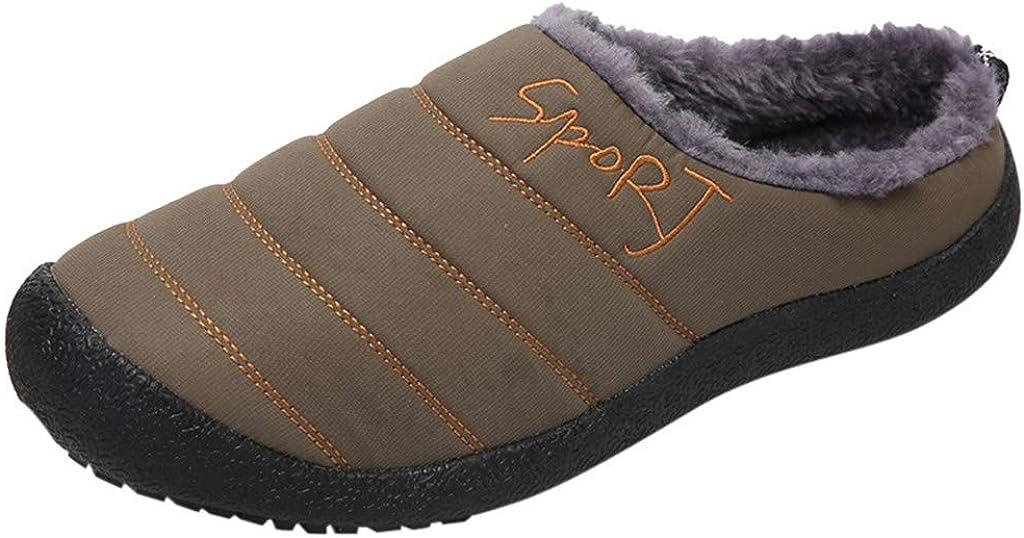 Cotton Slippers Warm Shoes Couple Large Size Casual Home Plus Velvet Comfortable Shoes
