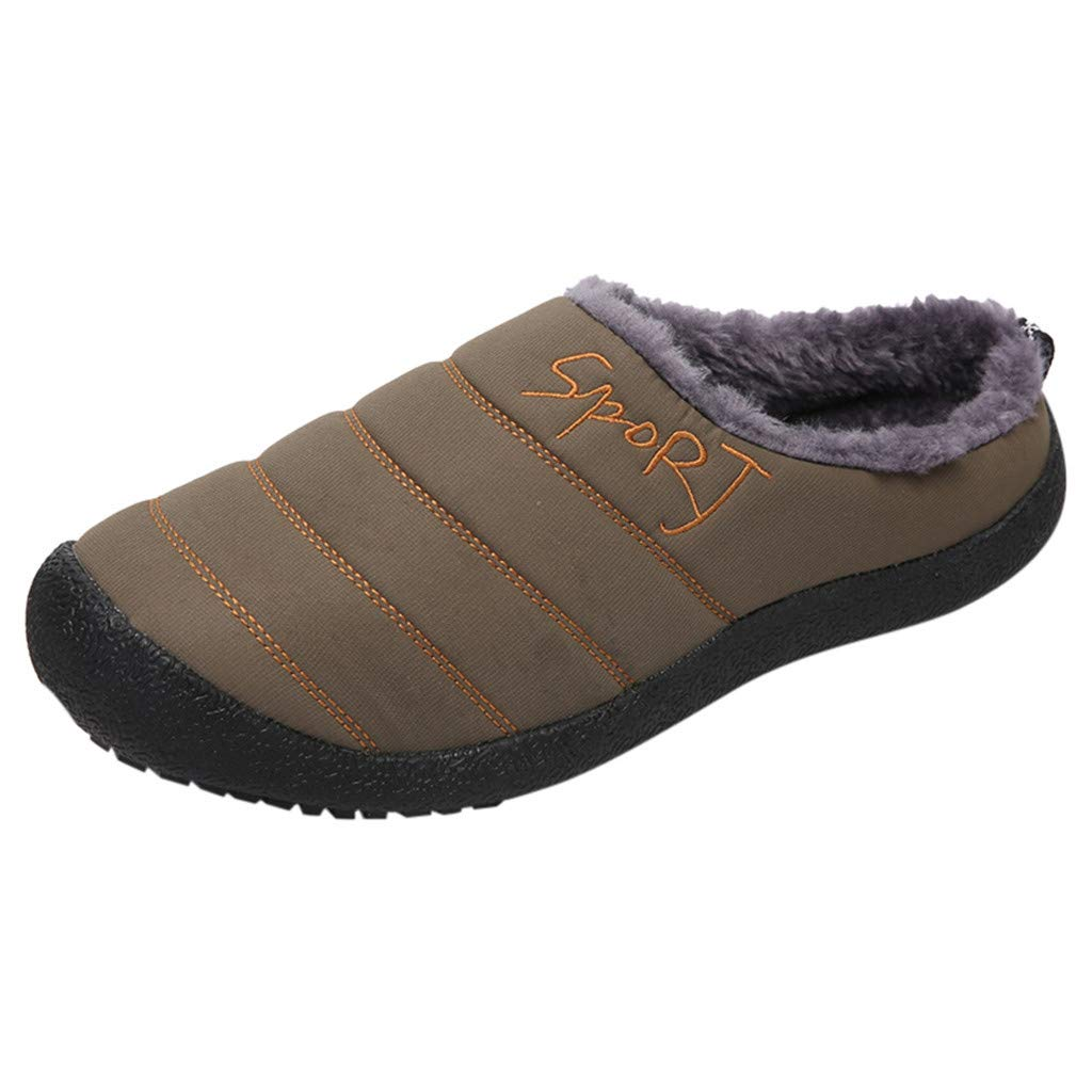 Shusuen Women's House Slippers Comfort Fuzzy Winter Home Shoes Slip On Indoor Outdoor Anti Slip Slippers Army Green by Shusuen