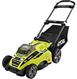 """Ryobi RY40180 40V Brushless Lithium-Ion Cordless Electric Mower Kit, with 5.0Ah Battery, 19.88"""" x 40.748"""" x 22.677"""""""