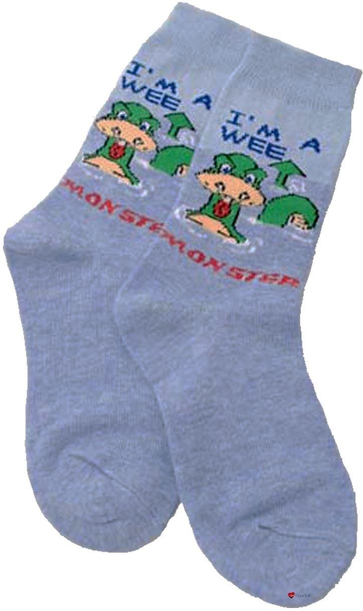 Niños Calcetines Regalo Escocia Monstruo del lago Ness Wee Nessie calcetines de diseño de calcetines para niños: Amazon.es: Hogar