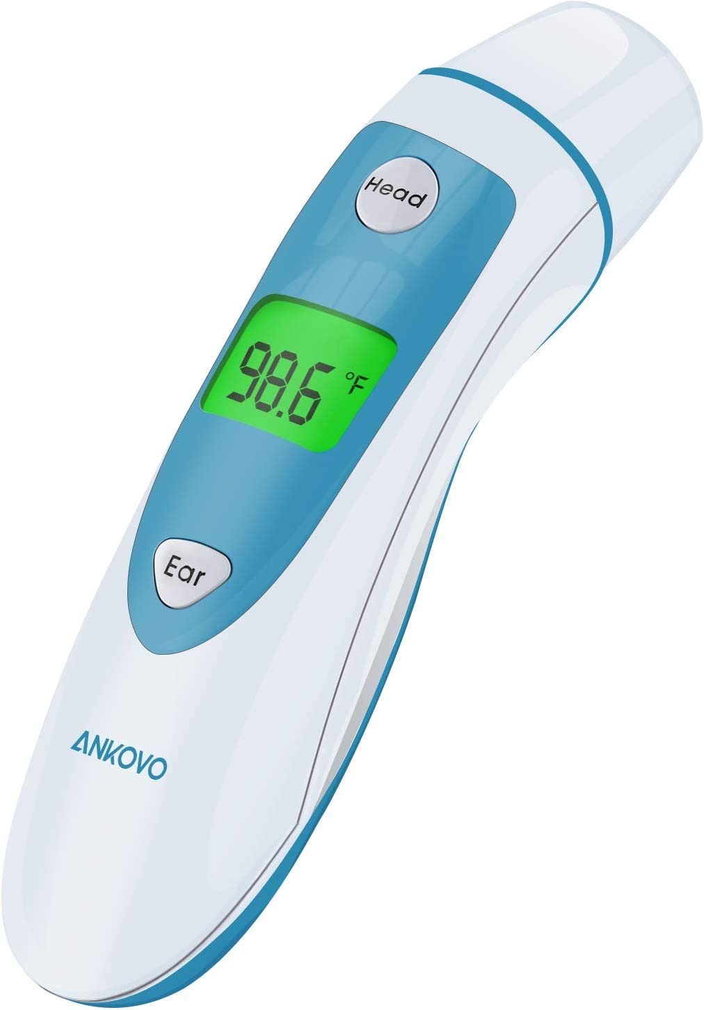 ANKOVO Thermometer for Fever Digital Medical Infrared Forehead and Ear Thermometer for Baby, Kids and Adults with Fever Indicator: Health & Personal Care