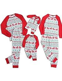 Reindeer Print Family Matching Clothes Long Sleeve and Pants Christmas Pajamas Set