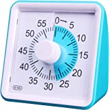 "3.07"" Visual Timer Kids 60 Minute Countdown Analog Clock Square No Loud Ticking for Kid Teacher Home Work School…"