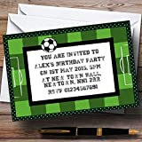 Football Soccer Pitch Personalized Birthday Party Invitations